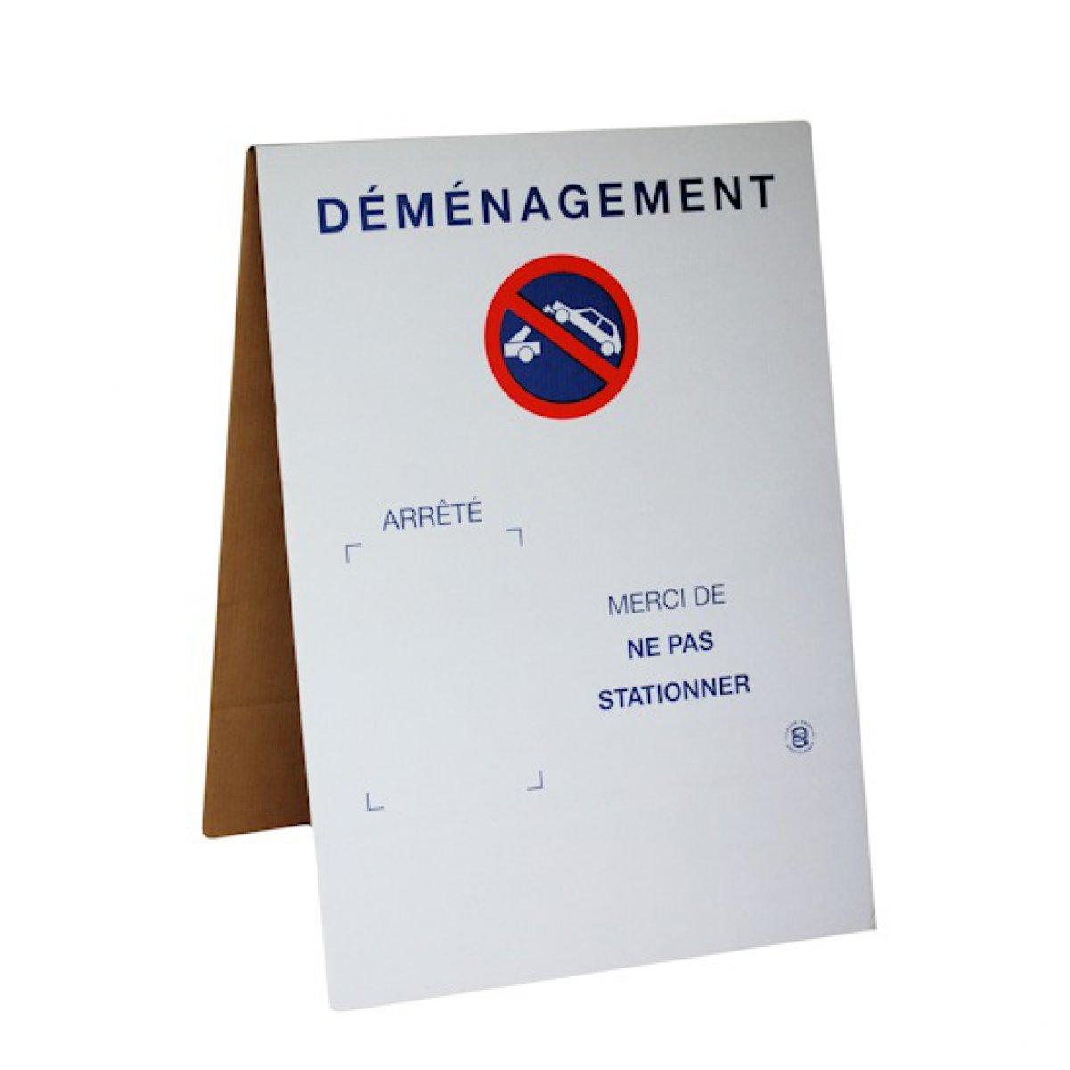 Panneau de signalisation carton market - Accessoire pour demenagement ...