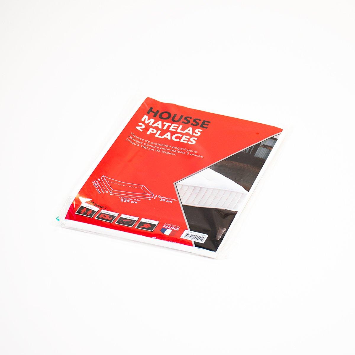 housse matelas 2 places 235x180x30cm carton market. Black Bedroom Furniture Sets. Home Design Ideas